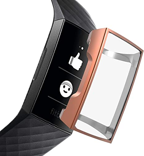 FunBand Protective Case Compatible with Fitbit Charge 3 TPU Clear ...