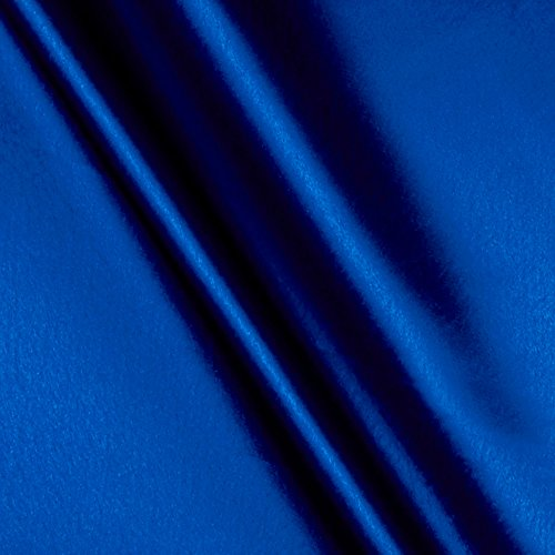 Ben Textiles Crepe Back Satin Royal Blue Fabric by The Yard,