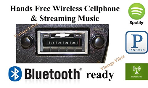 Bluetooth Enabled 1973-1988 Chevy Truck USA-630 II High Power 300 watt AM FM Car Stereo/Radio
