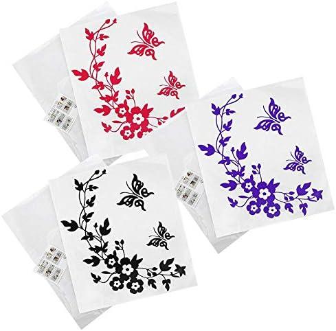 3ピース/セットトイレステッカー蝶花つるマーカーサインリマインダー個人的な装飾バスルーム