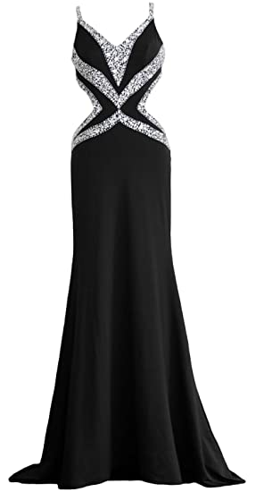 5b5f2c484bd8 MACloth Women Long V Neck Sexy Mermaid Prom Party Dress Formal Evening Ball  Gown: Amazon.co.uk: Clothing