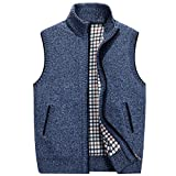 Product review for Kedera Men's Stand Collar Loose Full Zip Basic Knitted Cardigan Sweater Vest