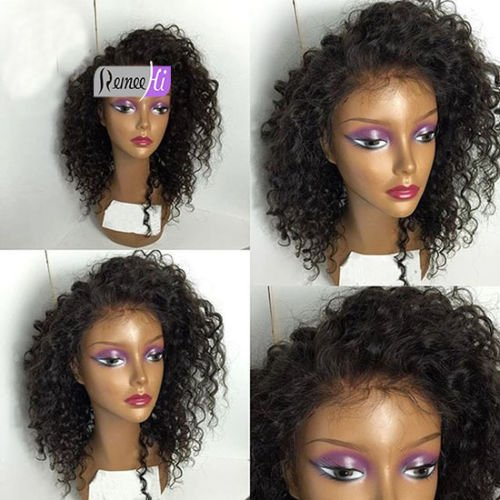 """Remeehi 12""""-24"""" 100% Brazilian Remy Human Hair Sexy Curly Woman Lace Front Wigs 16Inch 1b-30# Highlights"""