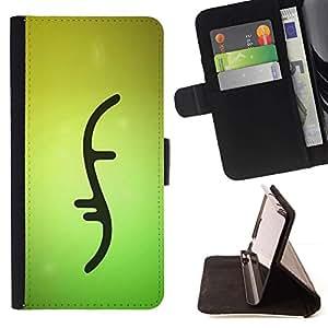 Momo Phone Case / Flip Funda de Cuero Case Cover - Biología Doble Verde hélice de ADN Strand - LG G4