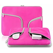 """TaoFilm Pro Neoprene Soft Sleeve Bag Cover Case [ Zipper Briefcase,Handbag,TaoFilm Pro Packing ] for MacBook Pro 13"""" with or without Retina Display & Air 13"""" & Universal Laptop Netbook 13 Inch (Pink)"""