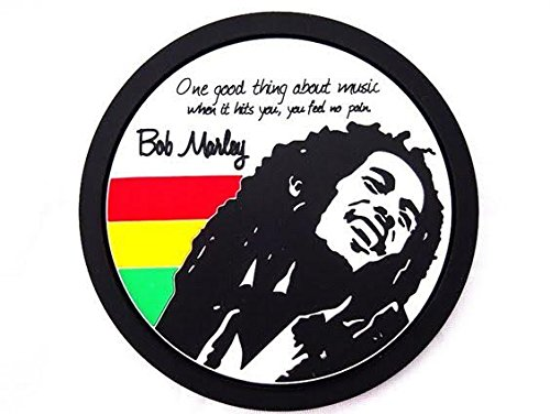 [420 Rasta Weed Party Decorations Rastafari Bob Marley Silicone Coasters Set of 4] (Buffalo Bob Costume)