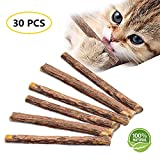 Cat Catnip Sticks Natural Matatabi Chew Sticks, Cat Teeth Cleaning Sticks, Dental Cleaning Molar Chew Toy for Cat Kitten Kitty 30 PCS