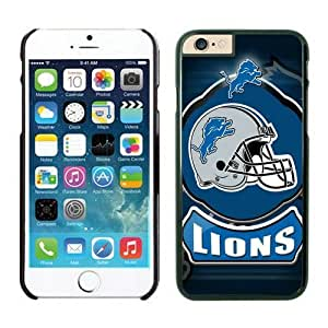 NFL iPhone 6 Plus 5.5 Inches Case Detroit Lions Black iPhone 6 Plus Cell Phone Case ONXTWKHB1484