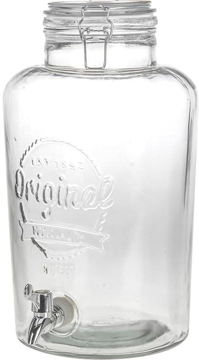 XXL Cristal dispensador de bebidas 8L – Cierre de Clip – Dispensador de agua dispensador de