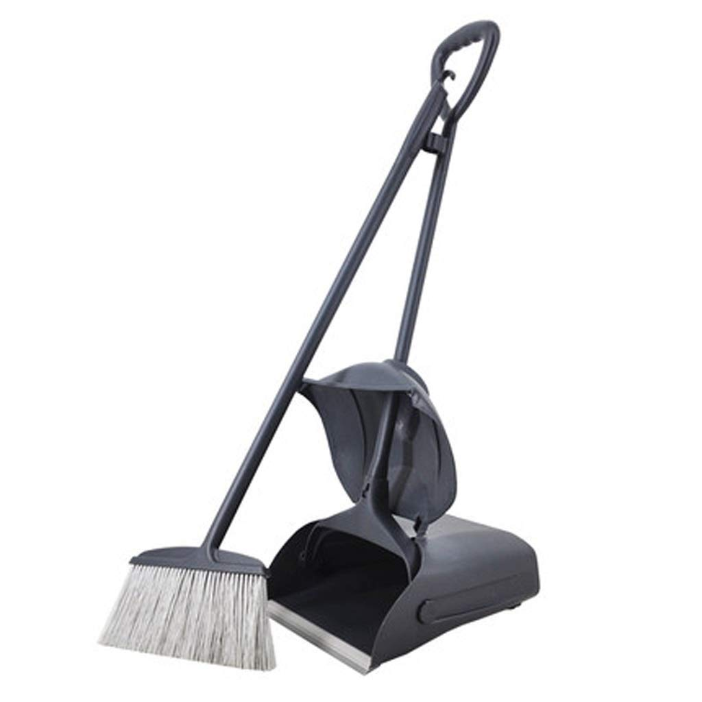 Lsxlsd Thicken,Foldable Windproof Broom And Dustpans Set Pull-type,45.7/34.2inches Long Handle Moving The Wheel Combination Garbage Shovel Property Hotel,outdoor Cleaning Tools, Upright Grips Sweep Se