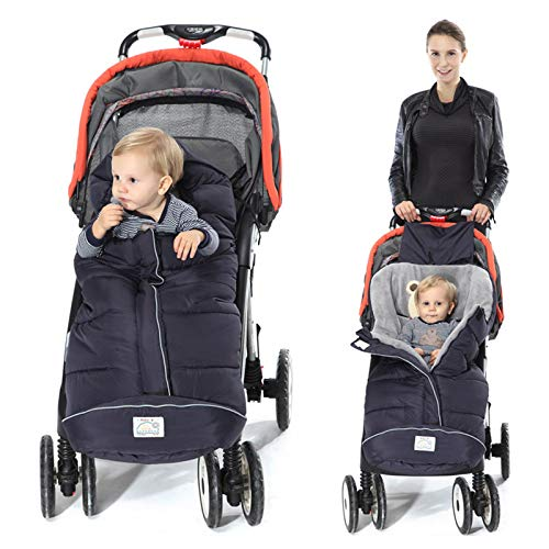 - Footmuff for Stroller,Baby Sleeping Bag Universal Waterproof Baby Bunting Bag(Navy,Large)