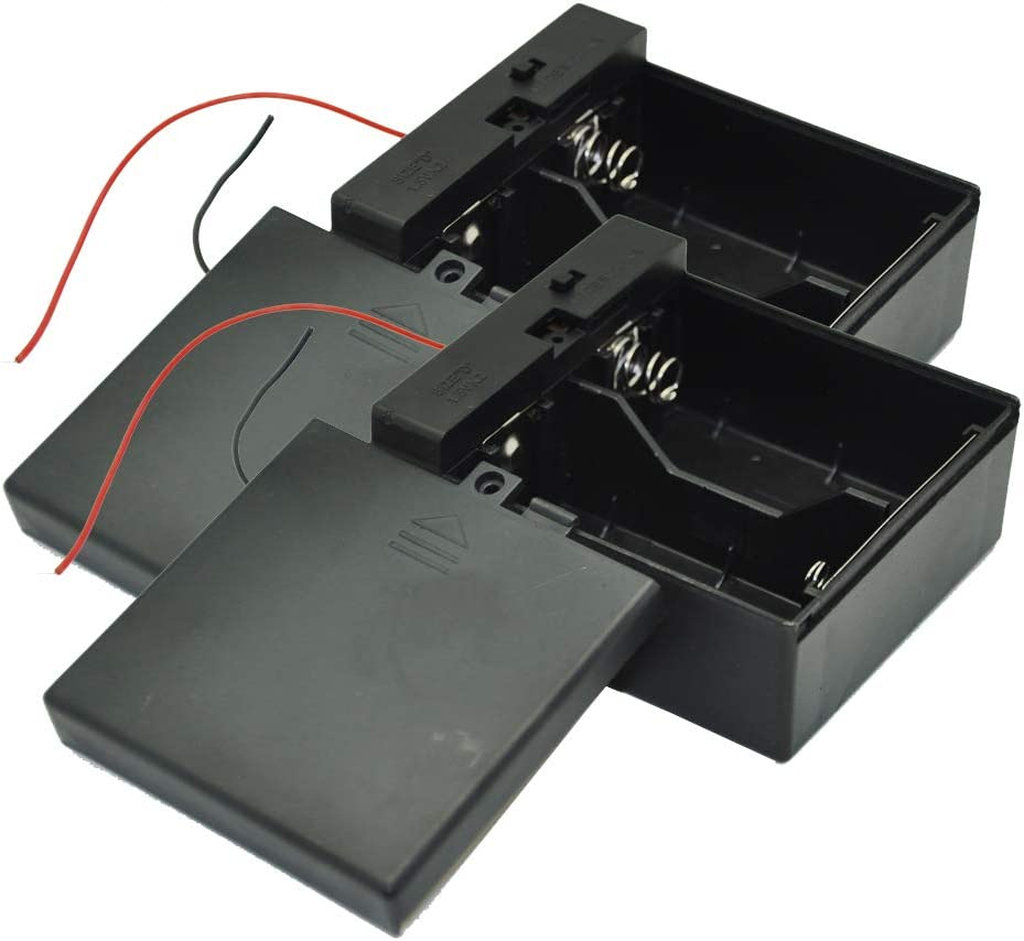2 seater Battery Container For AA Batteries Stylus-Battery Door with wires