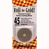 Roll The Gold 45MM Gold Titanium Coated Rotary Cutting Blade Refill - 2 PK
