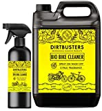 Dirtbusters bio bike bicycle motorbike motorcycle cleaner 5L refill and 1 litre spray with muck munching microbes