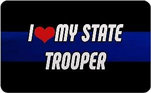 Makoroni - I LOVE MY STATE TROOPER Police Refrigerator Wall Magnet 2.75x3.5 inc Des#71