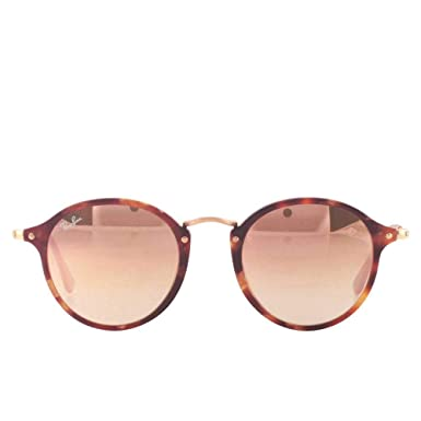 6d872b45a4 Image Unavailable. Image not available for. Color  Ray-Ban Round Fleck RB  2447 Spotted Brown Havana Copper ...