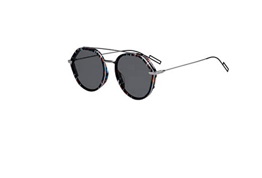 8b985ba7f5 Image Unavailable. Image not available for. Color  New Christian Dior Homme  0219S 04NN 2K Striped Black Ruthenium Sunglasses