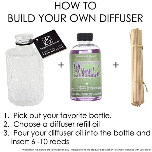 Hosley Aromatherapy Set of 2 Premium Grade Calming Spa Scented Reed Diffuser Refill Oil, 230 ml (7.75 fl oz) Made in USA. Bulk Buy. Ideal Gift for Weddings, spa, Reiki, Meditation Settings PR