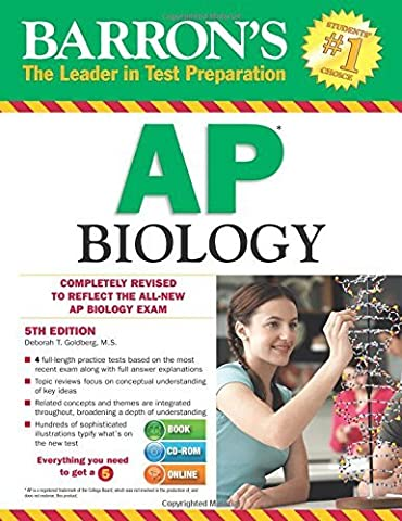 Barron's AP Biology with CD-ROM, 5th Edition (Barron's Ap Biology (Book & CD-Rom)) by Goldberg M.S. Deborah T. (2015-01-01) (Ap Biology Barrons 5th)