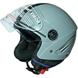 Jmd Helmets Open Face Grey Color Helmet (M) Size)