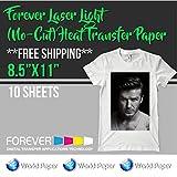 "Forever Laser Light (No-Cut) Heat Transfer Paper 8.5""x11"" 10 sheets"