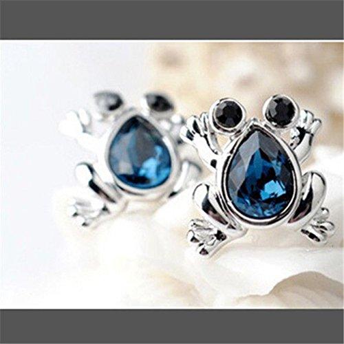 Meenanoom Little Frog Cymbidium Crystal earrings lovely fashion jewelry Woman (Gold Cymbidium)
