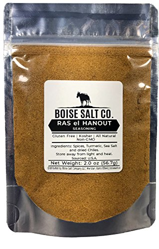 Boise Salt Co. Ras el Hanout Moroccan Spice Blend All-Natural Gluten Free Non-GMO 2 Ounce Resealable Stand Up Pouch