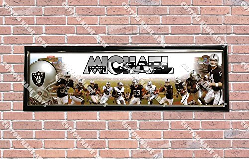 Personalized Customized New Oakland Raiders #2 Poster With Frame, With Your Name On It, Party Door Poster, Room Art Decoration, Wall - Decorations Raiders Wall Oakland