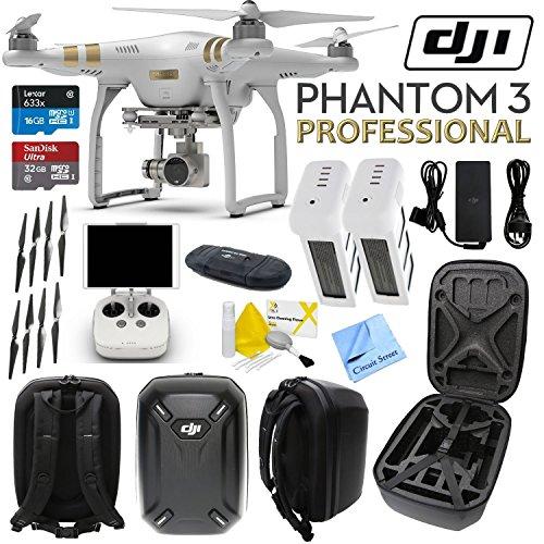 DJI Phantom 3 Professional Quadcopter Drone with 4K UHD Video Camera w/...