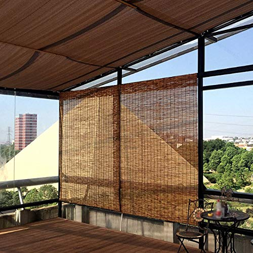 YUANJJ Bamboo Roller Blinds – Reed Roman Shades – Natural Curtains, Anti-Corrosion & Dustproof, Suitable for Courtyard, Garden, Indoor, Outdoor, Customizable