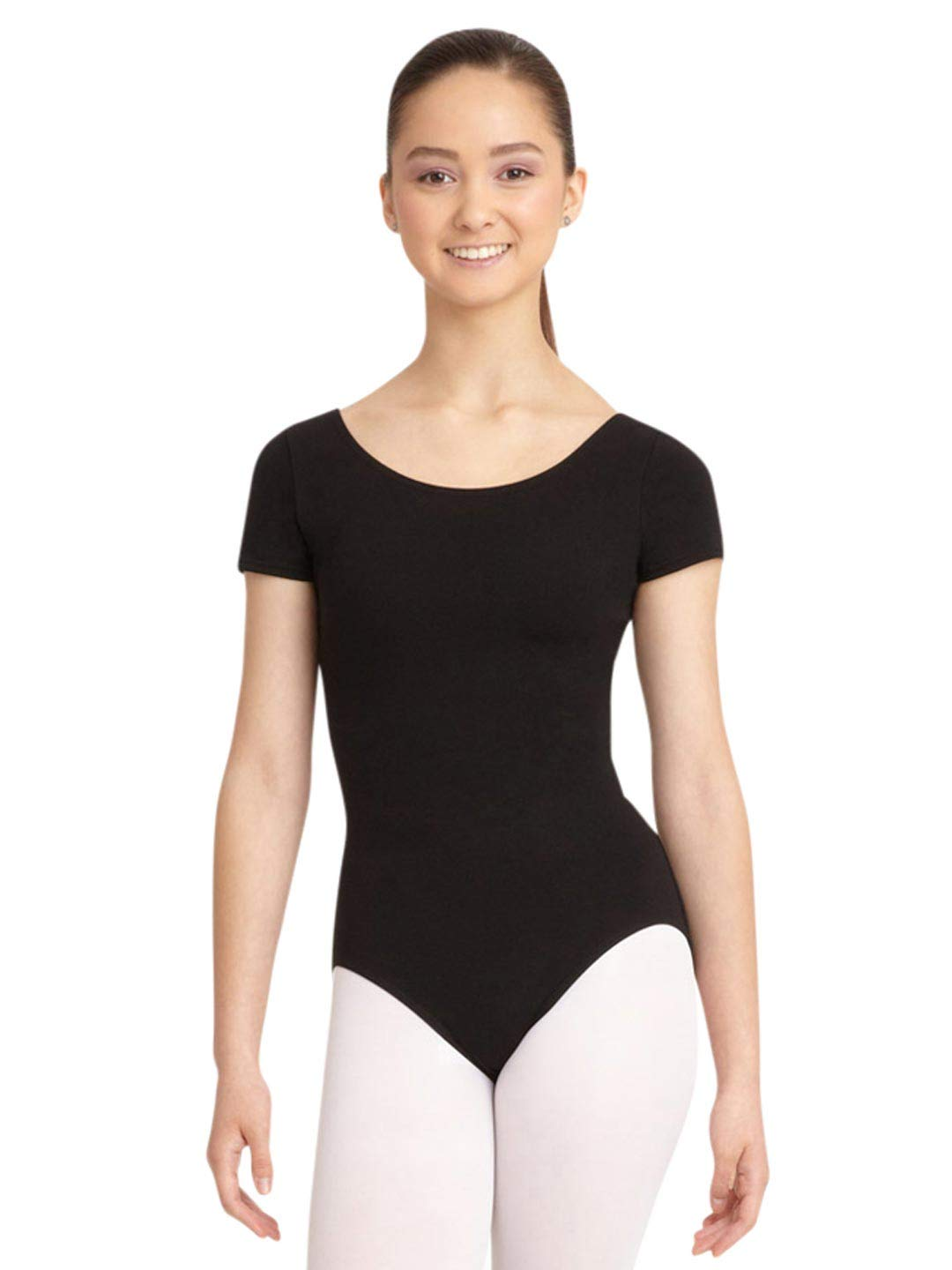 Capezio Women's Classic Short Sleeve Leotard,Black,X-Large