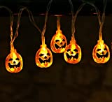 20ct Halloween Orange Pumpkin String Lights Battery Operated 20pcs LEDs Halloween Holiday Decoration