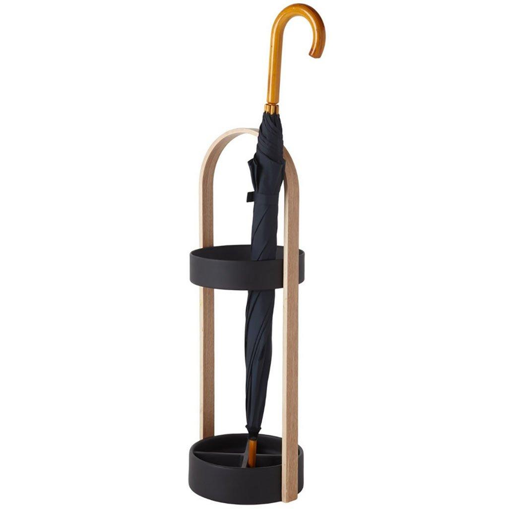ZLsj 傘スタンド、ホームオフィス、創造的なファッション、ヨーロッパの傘スタンド、オリジナルの木製のシンプルな傘収納棚 (色 : ブラック) B07DFFWLSYブラック