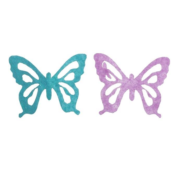 Mehrfarbig1 Sharplace 100 St/ück Filzstoff Bastelfilz Filz Schmetterling Polyester Felt Fabric Schmetterling