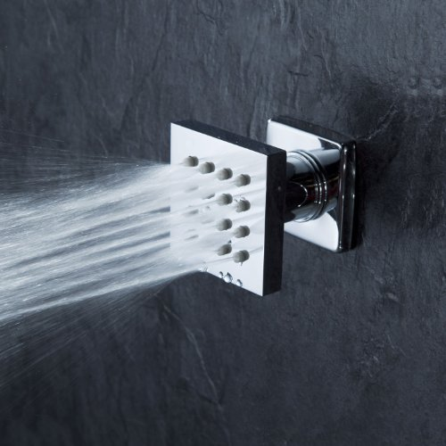 Cascada Modern Solid Brass 16-Nozzle Square Body Spray Jets Shower, Oil Rubbed Bronze by Cascada Showers