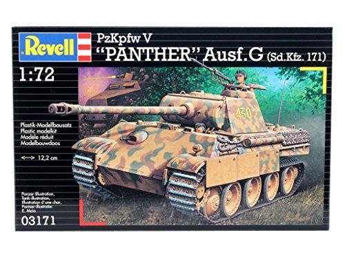 """Revell Revell03171 12.2cm """"pzkpfw V Panther Ausf.g"""" Model Ki"""