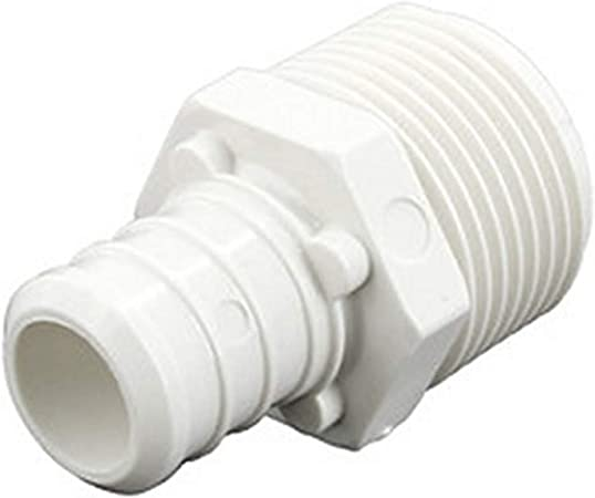 "100 Poly Alloy Lead-Free Crimp Fittings 3//4/"" PEX x 1//2/"" Male NPT Adapters"