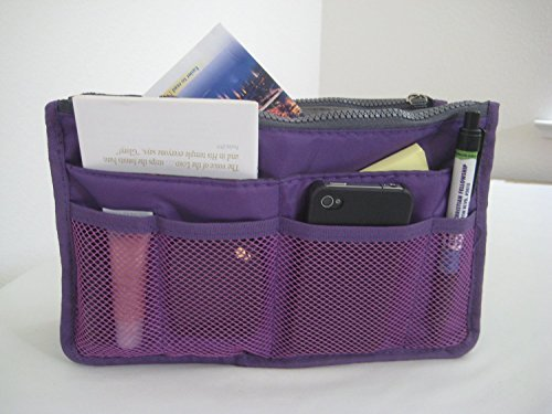 Thinkmax Multi-functional Storage Purse Travel Makeup Pouch Bag Purple (Bag Storage Towable)
