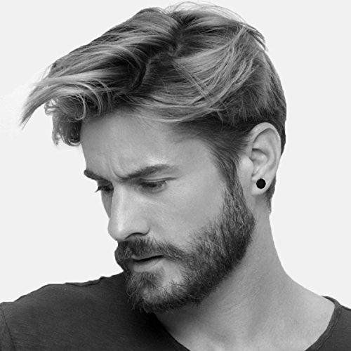 LIEBLICH Black Stud Earrings Men Women Faux Gauges Ear Tunnel Stainless Steel Earrings 6 Pairs 5mm-10mm by LIEBLICH (Image #5)