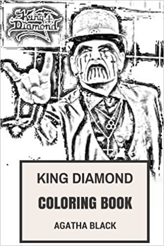 King Diamond Coloring Book Epic Mercyful Fate Frontman And Black