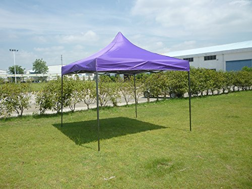 American Phoenix 10x10 Multi Color and Size Portable Event Canopy Tent, Canopy Tent, Party Tent Gazebo Canopy Commercial Fair Shelter Car Shelter Wedding Party Easy Pop Up (Purple, 10x10)