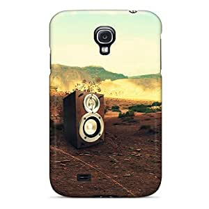 Galaxy S4 Box Music Print High Quality Tpu Gel Frame Case Cover