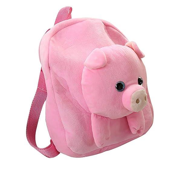 af2c40b99b Amazon.com  Alapaste Cute Toddler Backpack Children Preschool Plush Pig  Doll Toy Backpack Mini Kindergarten School Shoulder Bags for Kids Boys and  Girls  ...