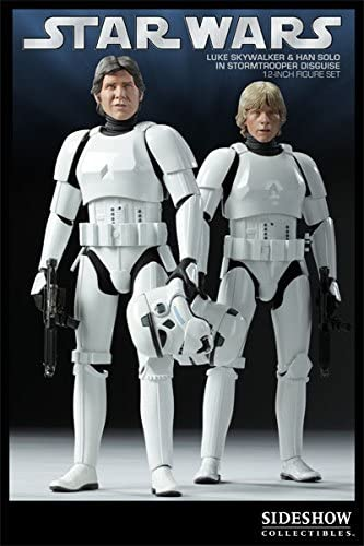 """1//6 Sideshow Star Wars Stand Base Stand 12/"""" Hot Toys Luke Han Solo Stormtrooper"""