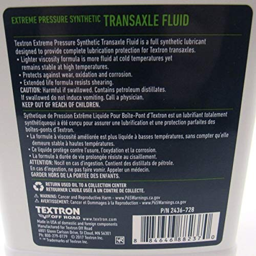 Textron Off Road Synthetic Transaxle Fluid Oil - 41oz - 2018 Wildcat XX & 2019 Prowler Pro