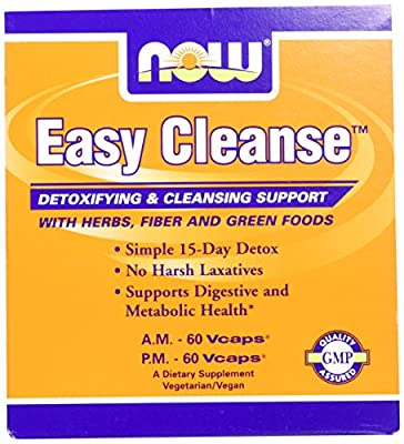 Now Foods Easy Cleanse Kit, 60 A.M. Vcaps & 60 P.M. Vcaps