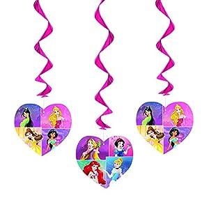 26″ Hanging Disney Princess Decorations, 3ct