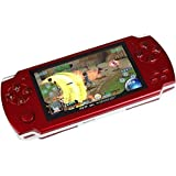 Oyrl PSP Game Console with 10000 Games, Music, Alarm, Calculator, Camera, SD Card Slot And 1 Set cartoon Earphone/Minion Earphone,Red