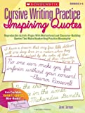 Cursive Writing Practice: Inspiring Quotes: Reproducible Activity Pages - Best Reviews Guide