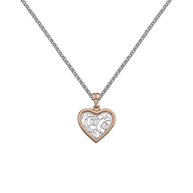 Hot Diamonds Faith Rose Gold Plated Accents Teardrop Pendant on a Chain of Length 55cm CFPS5